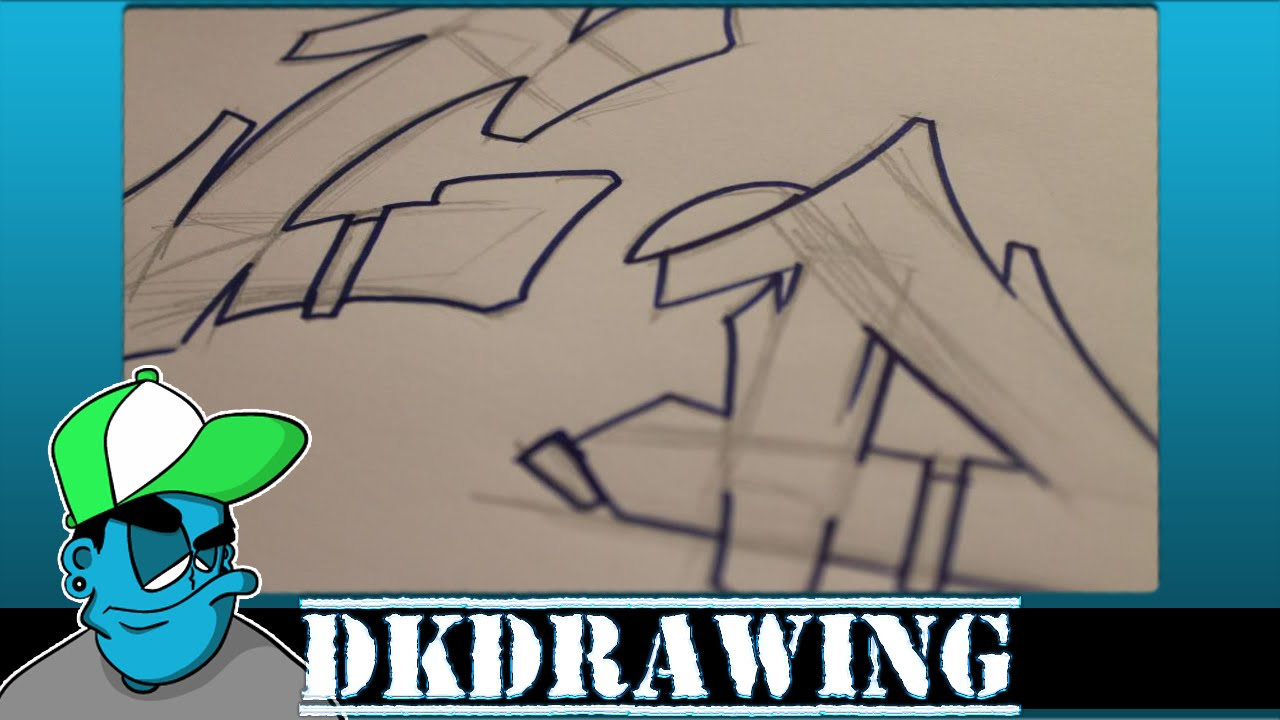 Graffiti Tutorial for beginners - How to draw cool letters C & D