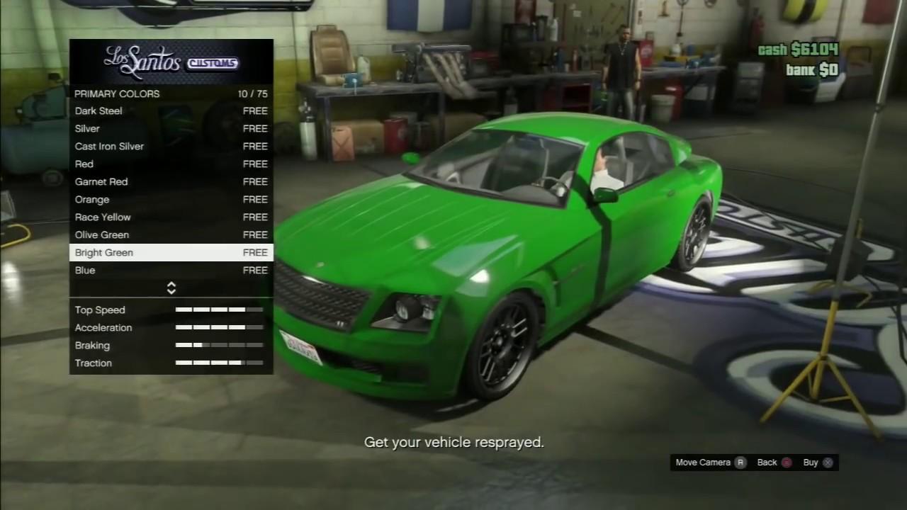 gta 5 online car color customization options youtube. Black Bedroom Furniture Sets. Home Design Ideas