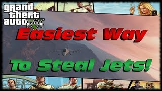 GTA 5 Easiest Way How To Steal A Fighter Jet From Fort Zancudo Army Base in GTA V!!!