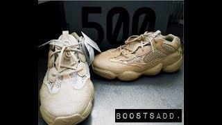 cabbc54bd Đập hộp và Review đôi Adidas Yeezy 500 Blush (Desert Rat) ...