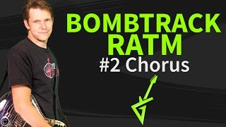Guitar Lesson: Bombtrack 2/4 chorus - Rage Against The Machine - How to play / tutorial