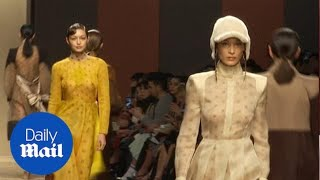 Gigi and Bella Hadid walk Fendi ahead of Karl Lagerfeld tribute thumbnail