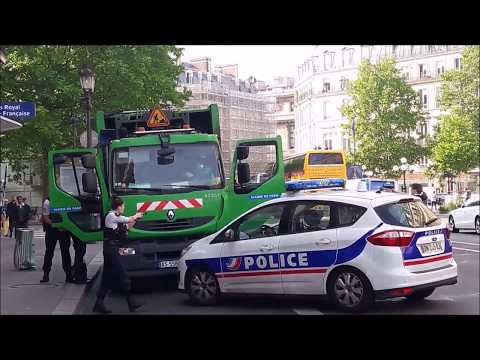 Interpellés avenue de l'Opéra au volant d'un camion-benne