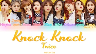 Cover images TWICE (트와이스)- Knock Knock (Color Coded) (HAN/ROM/ENG) Lyrics