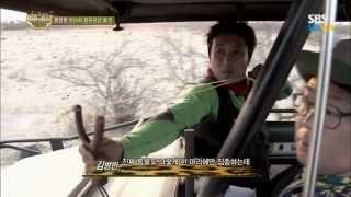 SBS [정글의법칙] - 갑자기 나타난 코끼리때 위기에 처한 병만족