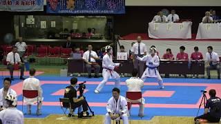 2018IH 空手道男子 個人組手4回戦 1 40 長沼(東京)vs八島(福島)