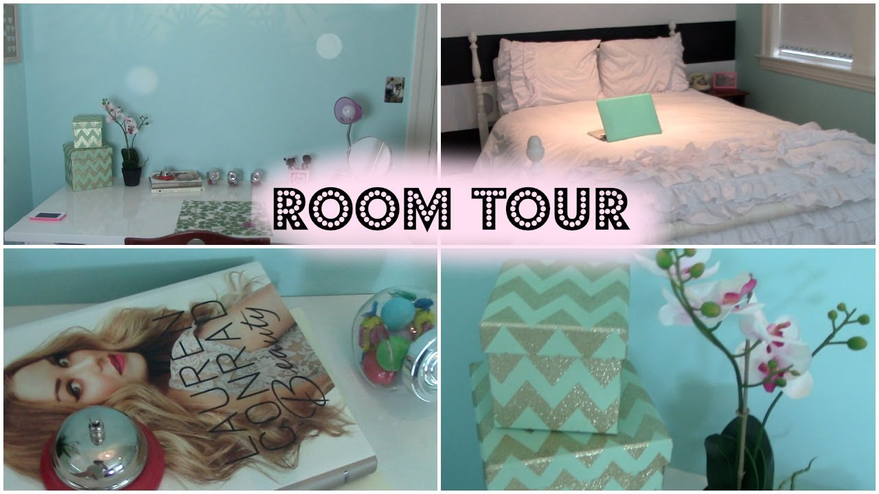 Bedroom Ideas For Teenage Girls Blue room tour 2014 | teen girl's tumblr bedroom - youtube