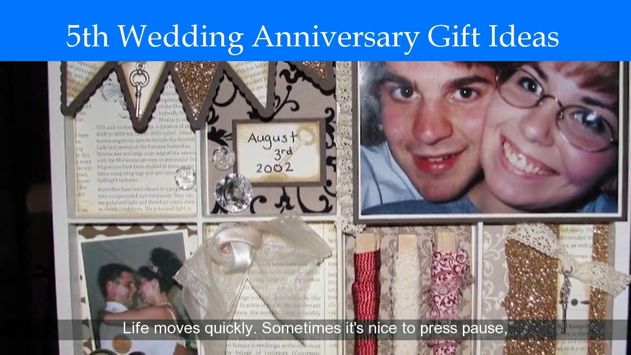 5th Year Wedding Anniversary Gift Ideas For Him