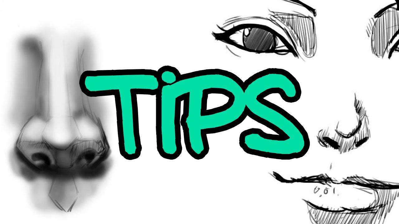 Tips Dibujar OREJAS OJOS NARIZ BOCA  YouTube