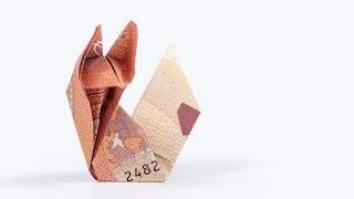 Geld falten Fuchs, Anleitung für ein kreatives Geldgeschenk 🦊