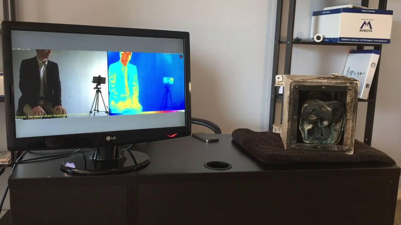 Melted MOBOTIX M15 Thermal Camera - Still Works!