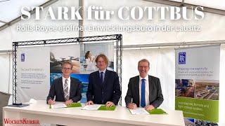 """""""STARK für COTTBUS"""" - Rolls-Royce eröffnet Entwicklungsbüro in der Lausitz"""