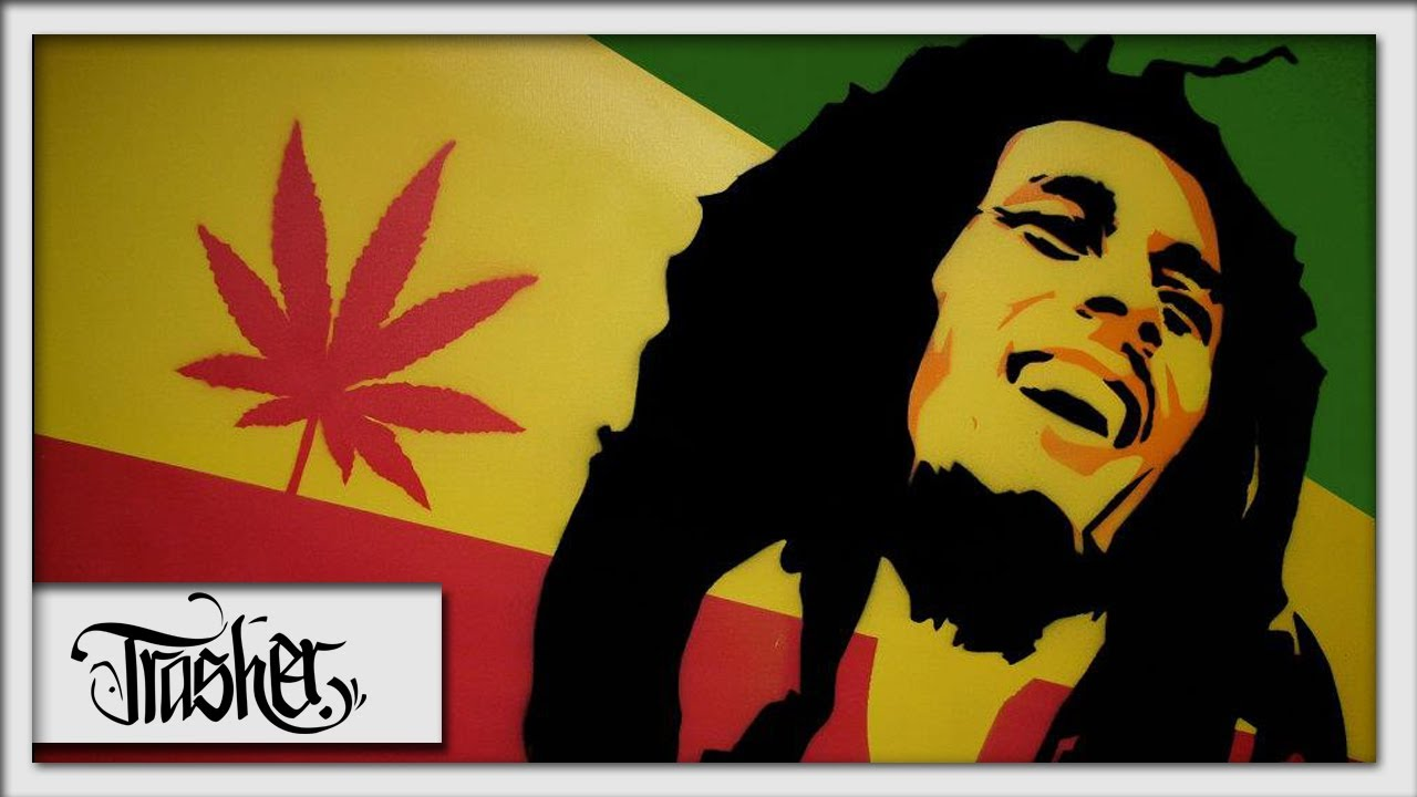 Bob Marley Speed Painting on Canvas - by: Trasher - YouTube
