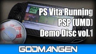 PS Vita Running PSP (UMD) Demo Disc vol.1