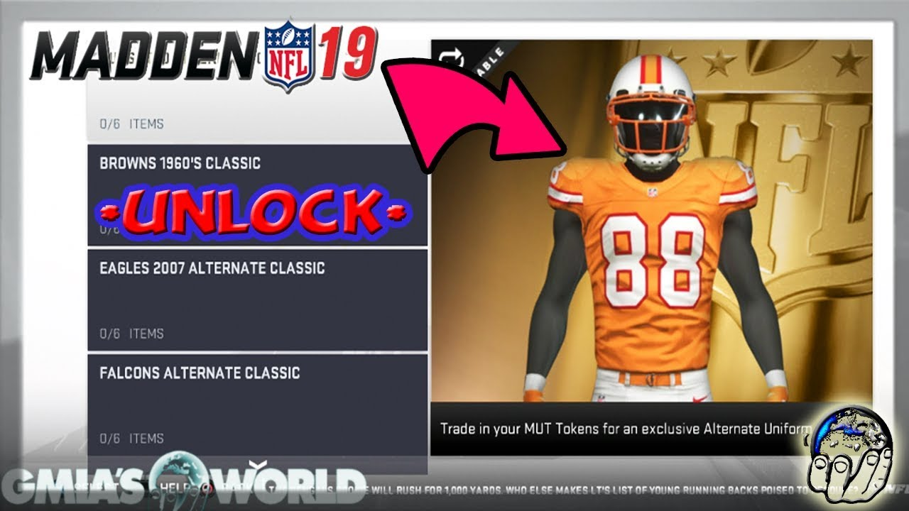 47daf8eb161 How to Unlock CUSTOM Uniforms   ANY NFL Playbook in MUT 19