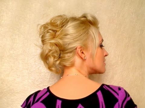 Party Hairstyle For Medium Long Hair Tutorial Easy Everyday Updo For School  Winter Faux Hawk