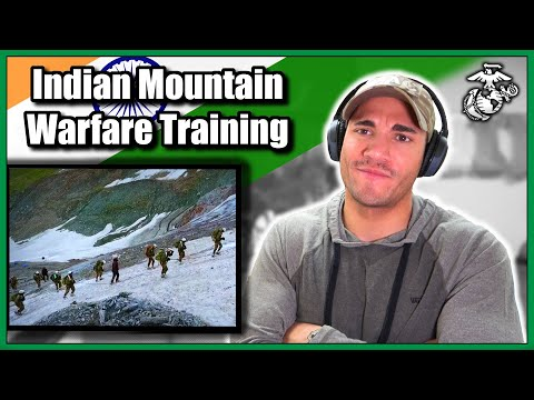 US Marine reacts to Indian Army Mountain Warfare Training