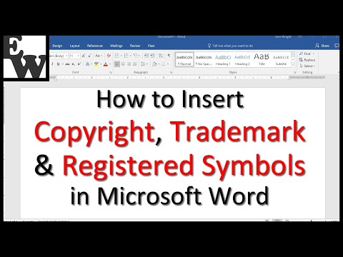 How To Insert Trademark, Copyright, And Registered Symbols In Microsoft Word
