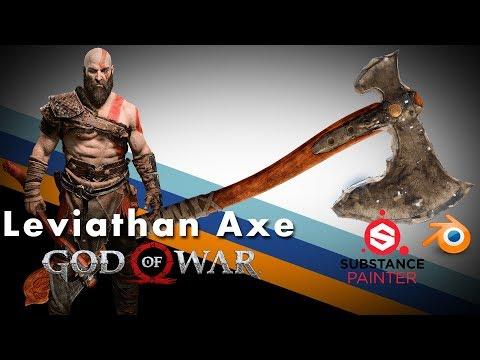 God of War - Kratos' Leviathan Axe - BLENDER WEAPONS (Blender)
