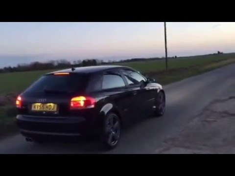 audi a3 3 2 v6 exhaust sound with launch control youtube. Black Bedroom Furniture Sets. Home Design Ideas