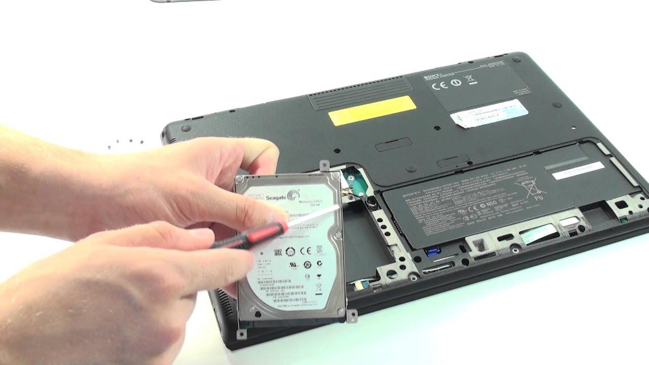 Festplatte Gegen Ssd Tauschen Sony Vaio S Series Notebook Youtube
