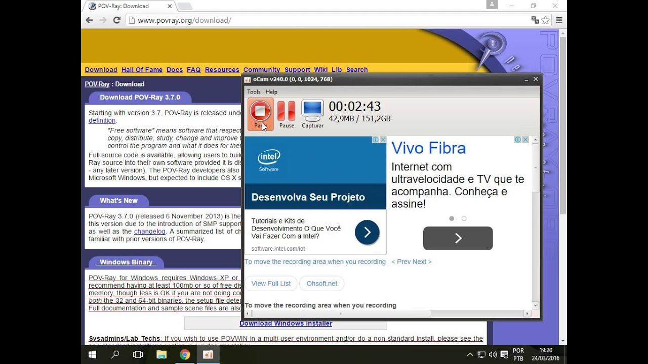 Instalação POV-Ray Windows 10
