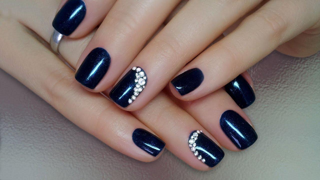 Дизайн ногтей гель-лак shellac - Как приклеить стразы на ...
