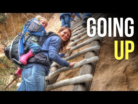 Climbing Cliff Dwellings in Mesa Verde National Park Colorado- RV Living