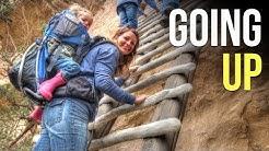 Climbing Cliff Dwellings in Mesa Verde National Park Colorado- RV Living