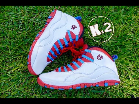 "Jordan 10 ""Chicago Flag"" (Review+On Foot)"