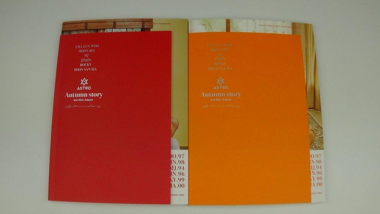 Unboxing Astro 아스트로 3rd Mini Album Autumn Story (Red & Orange Version)