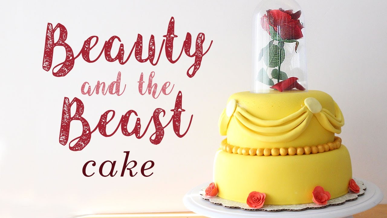 How to Make a Beauty and the Beast Cake YouTube