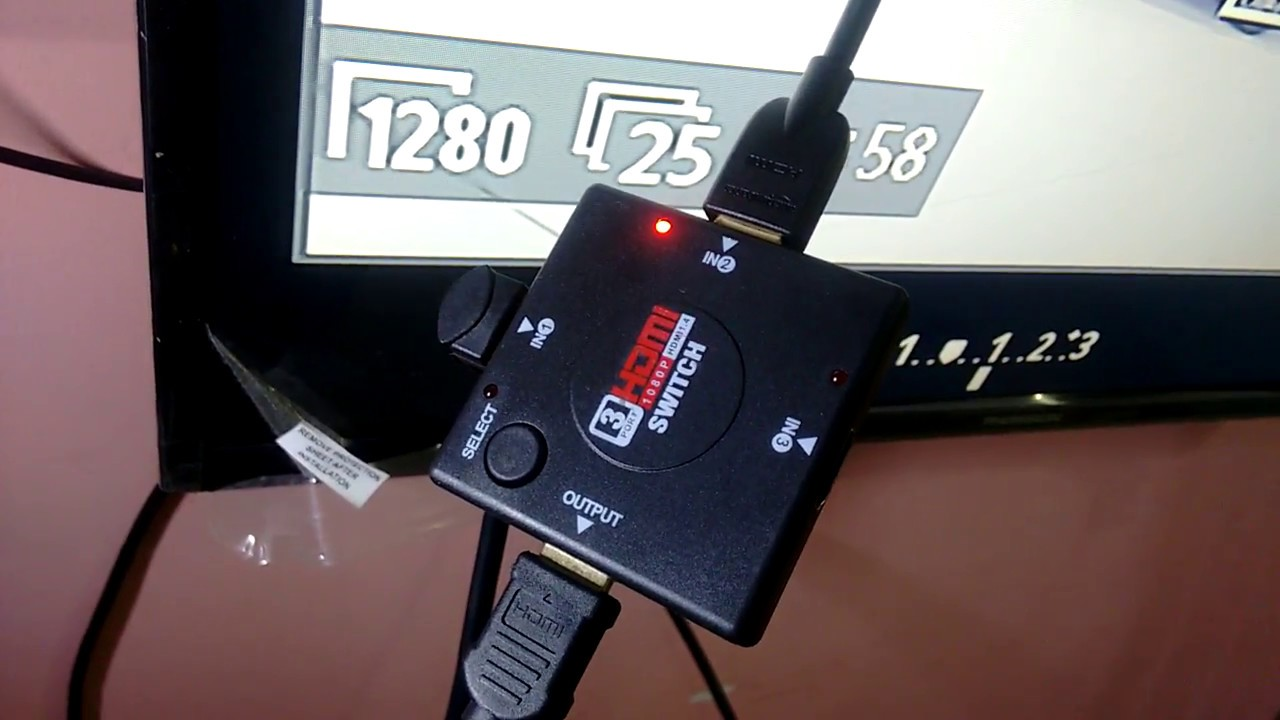 How to use HDMI Switch - 3 Input Devices SET TOP BOX, DSLR Camera and 1  Output SMART TV