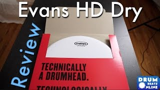 Evans Genera HD Dry Snare Head - Gear Review | Drum Beats Online