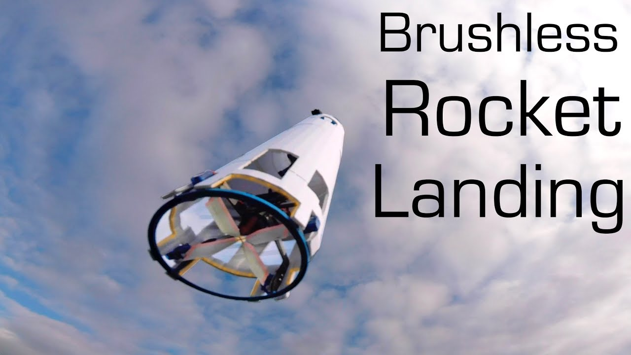 Brushless R/C ROCKET Vertical Landing SpaceX Style - RCTESTFLIGHT