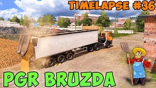 Farming simulator 17 | PGR Bruzda with Seasons | Timelapse #36 | Sell soybean and oats