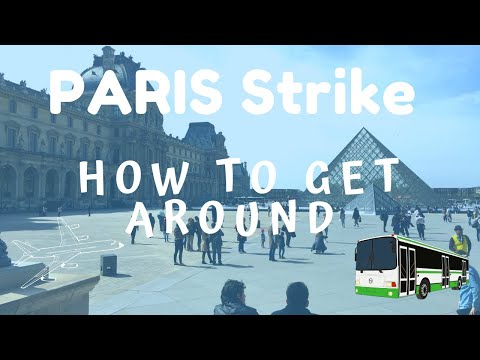 Paris Strike! - HOW TO GET TO & FROM AIRPORT CDG, ORLY & Get Around Town