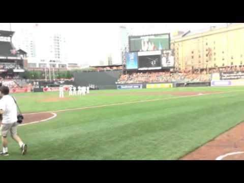National Anthem: The Baltimore Orioles vs. Texas Rangers @ Camden Yards