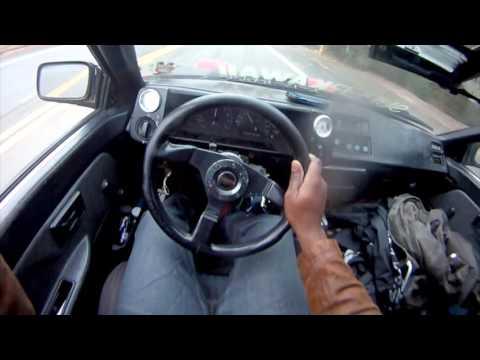 POV TEST DRIVE: AE86 Toyota Corolla GTS (4AGE 20v black top)