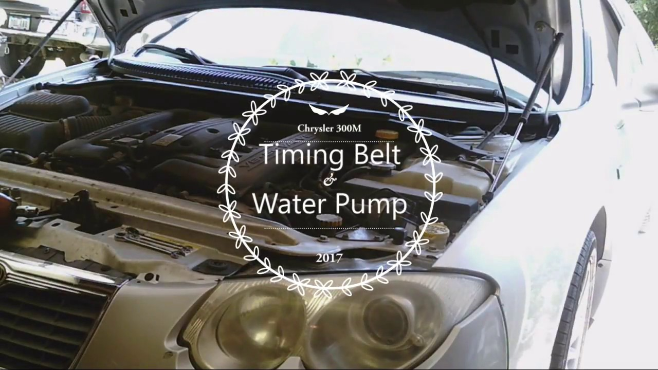 hight resolution of chrysler 300m timing belt and water pump replacement