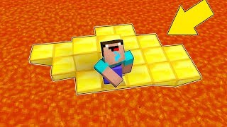 Minecraft Battle - NOOB vs PRO : NOOB CAN'T EXIT FROM GOLD ISLAND IN LAVA ! NOOB VS TRAP (Animation)