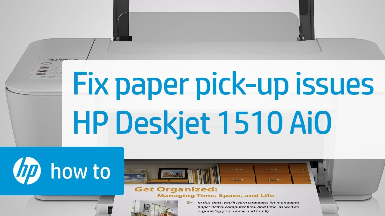 Fixing Paper Pick Up Issues | HP Deskjet 1510 All-in-One Printer | HP