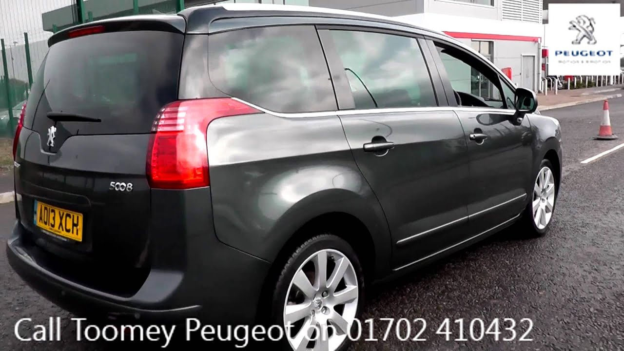 2013 peugeot 5008 allure shark grey metallic ao13xch for sale at toomeys peugeot southend. Black Bedroom Furniture Sets. Home Design Ideas