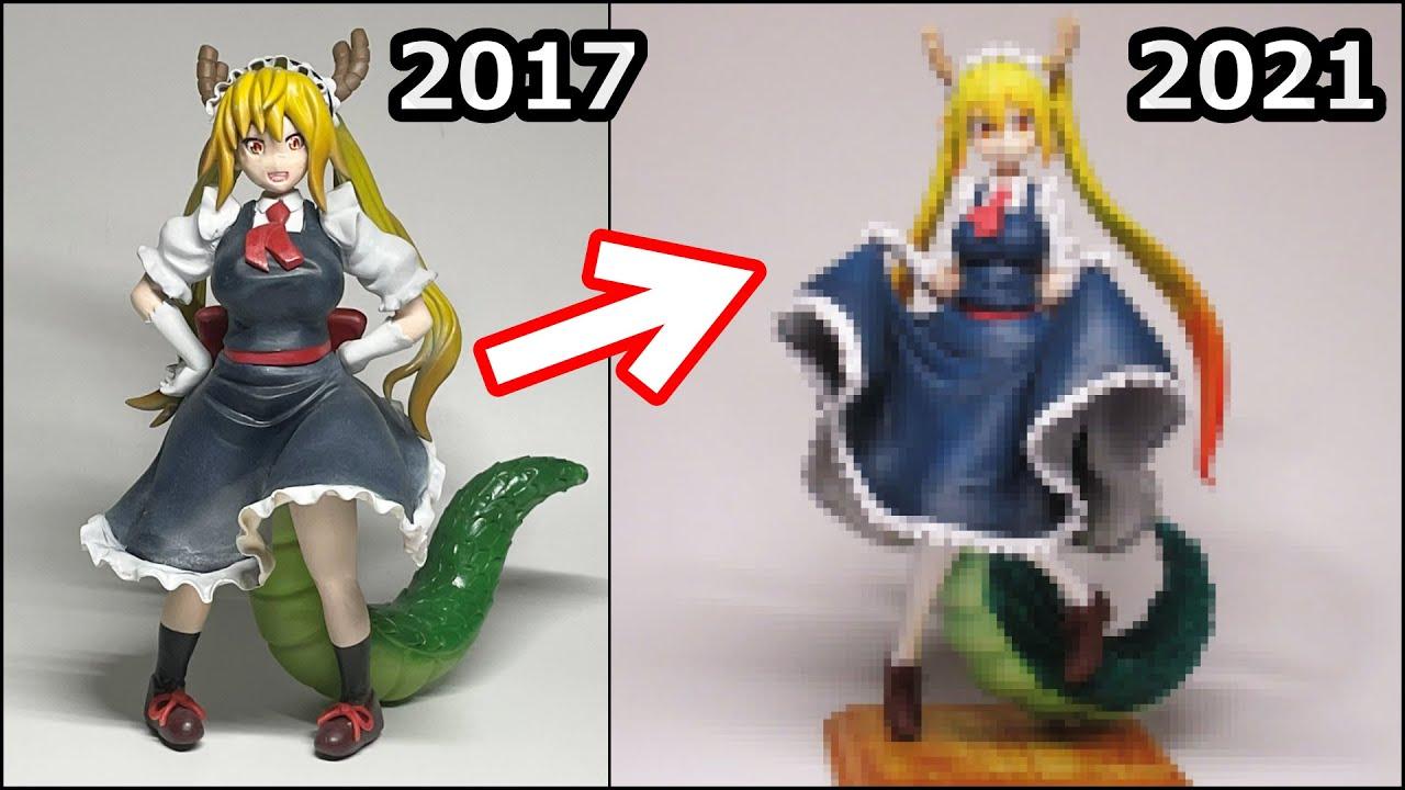 【小林さんちのメイドラゴン】トールのフィギュアを4年ぶりに作ってみた【粘土】How to make a figure of Tohru - Miss Kobayashi's Dragon M