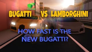 BUGATTI VS LAMBORGHINI | Race | Jailbreak (Beta) | ROBLOX