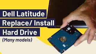 How to Remove Hard Drive / Hard Disk (Dell Latitude)