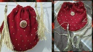 Simple & Easy Bride's Handbag tutorial/ Latest Stylish handbag for Bride/wedding pouch tutorial