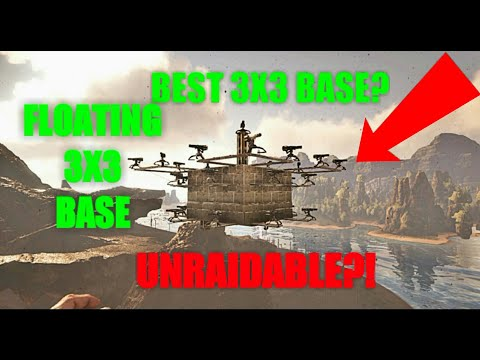 ARK survival evolved: (amazing glitch) best 3x3 floating base design (futuristic base upgrades)!!!