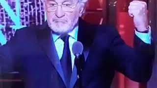 "Robert De Niro insulta a su presidente con un ""Fuck Trump!"""