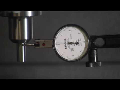 Total runout measurement with a gauge